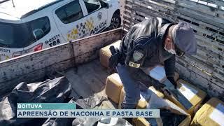 Apreensão de maconha e pasta base de cocaína em Boituva