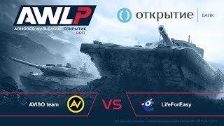 AWL: Открытие. PRO League. 1-й тур. AVISO team vs. LifeForEasy
