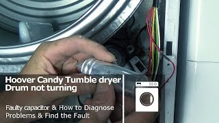 http://www.how-to-repair.com/help/hoover-candy-tumble-dryer-drum-not-turning-and-belt-ok-faulty-capacitorThis post shows you how to diagnose and repair a Hoover Candy tumble dryer with a faulty capacitor can be used on some Maytag, Helkama, Kelvinator, Otsein, Teka, Terzismo, Zerowatt Models.