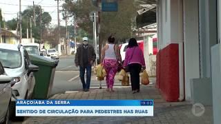 Araçoiaba da Serra define sentido de circulação de pedestres nas ruas