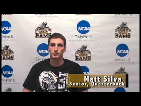 Matt Silva- Framingham State Athlete of the Week- 11/1/2015