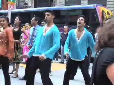 Bollywood Hero Flash Mob in Times Square