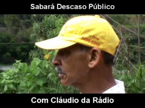 CLAUDIO DA RADIO MOSTRA,Á CARÊNCIA DE  ACESSO AS RESIDENCIAS EM SABARÁ MG.
