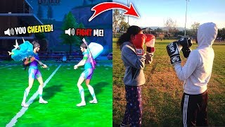 2 Fortnite Kids 1v1... then FIGHT IN REAL LIFE! I'm Done.