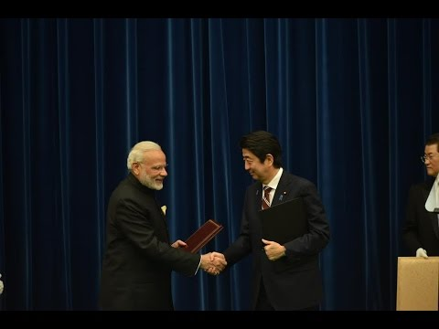 PM Modi at Exchange ofAgreements & Joint Press Statement with PM Abe in Tokya, Japan