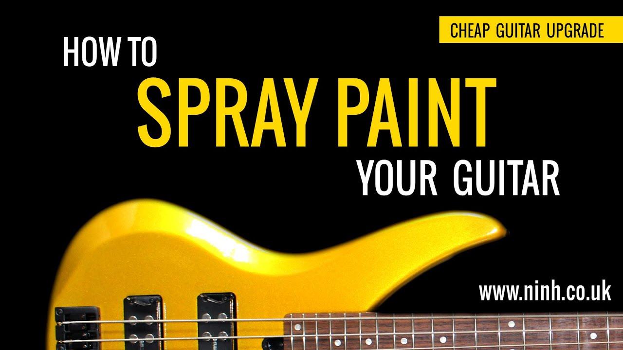 How to Spray Paint Your Guitar – Cheap Guitar Upgrade (Yamaha Bass) – EXPLAINED!