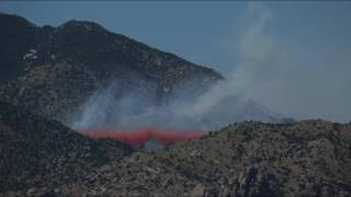 DC-10 air tanker drop on the Burro Fire northeast of Tucson. Video by Mike Christy / Arizona Daily Star