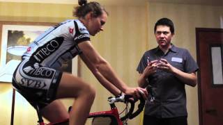 Team Tibco's Meredith Miller gets the BG Fit treatment on her Specialized Amira.