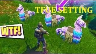 HOW TO TURN ON TFUE SECRET SETTINGS TO FIND LLAMAS AND LEGENDARY WEOPONS|DRAGANIONBEAST|