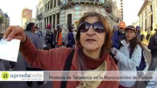 Protesta de tarjeteros frente al Municipio de Paraná 20160801