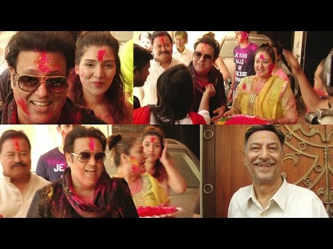 Govinda & Suresh Oberoi Celebrates Holi at Home