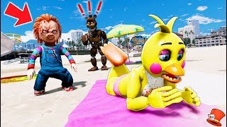 Video CHUCKY DOLL CAUGHT SPYING ON CHICA! (GTA 5 Mods FNAF RedHatter) MP3, 3GP, MP4, WEBM, AVI, FLV Juli 2018