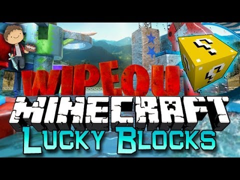Minecraft: Lucky Block WIPE OUT! Modded Mini-Game w/Mitch & Friends!