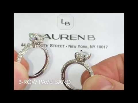 Comparing 3-Row Pave Band Rings - Rounded and Square