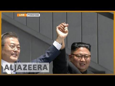 🇰🇵 Moon Jae-in and Kim Jong-un address 150,000 crowd | Al Jazeera English