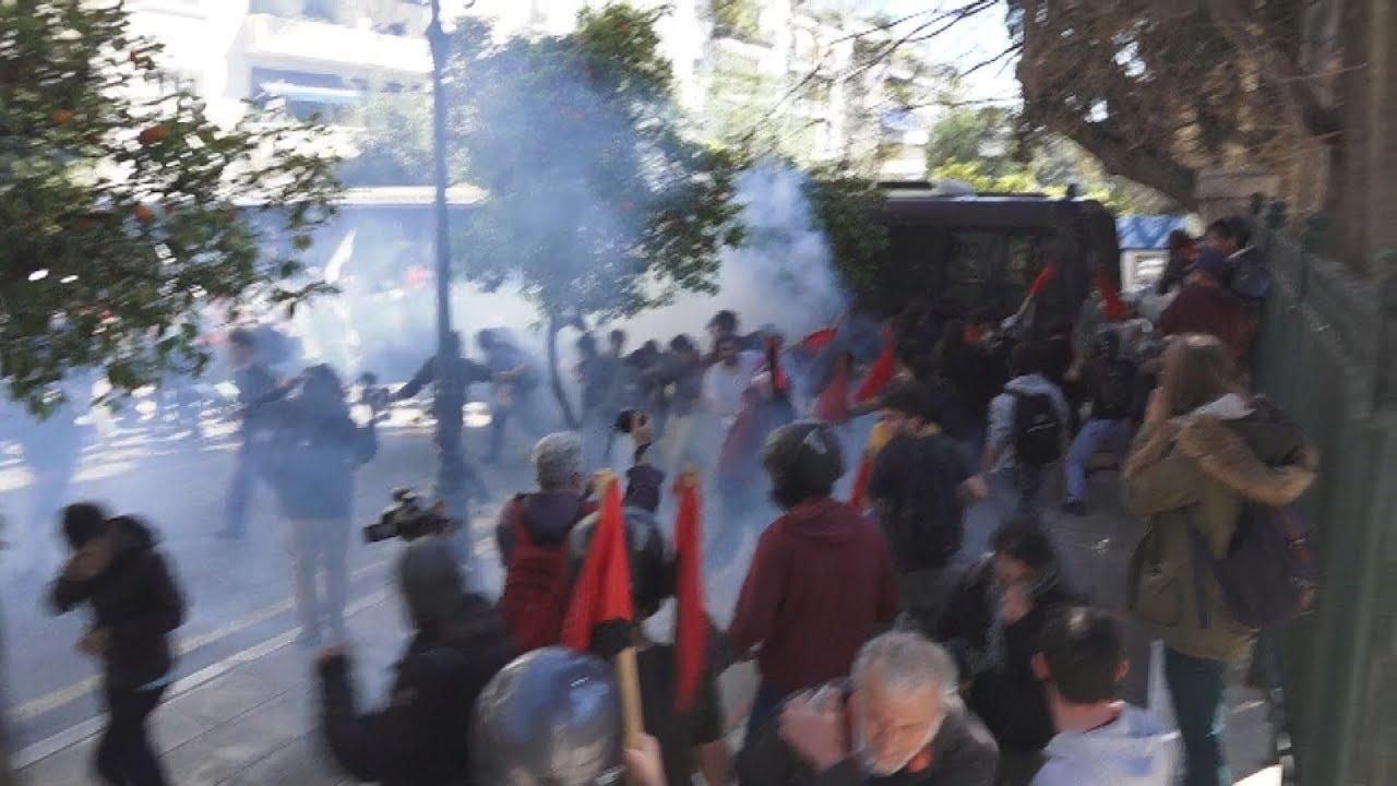 Ένταση στο πανεκπαιδευτικό συλλαλητήριο στην Αθήνα