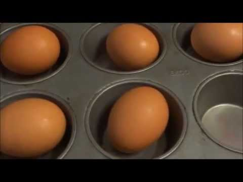 Baking Hard Boiled Eggs In The Oven Inside Muffin Pans