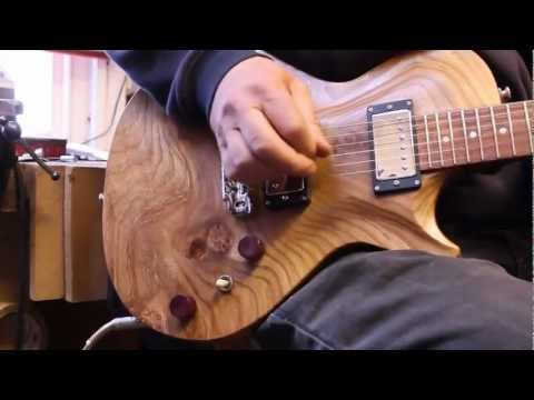 the custom PAF 'elm' guitar demo video
