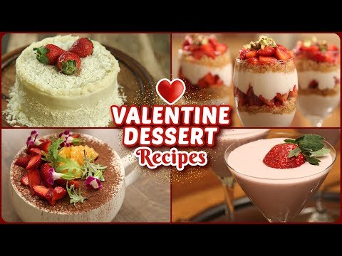 5 BEST Valentine's Day Special Recipes – Easy Eggless Dessert Recipes – Valentine's Day Treats