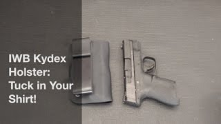 In this video, I demonstrate how I go about making an inside the waistband (IWB) holster with which you can tuck in your shirt.  With a few inexpensive materials, you can make a holster that is custom fit for you, and that is completely concealable with a tucked-in shirt.