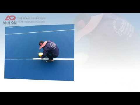 Quy trình sơn line mặt sân tennis theo tiêu chuẩn USA