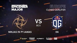 NiP vs OG, EPICENTER Major 2019 EU Closed Quals , bo3, game 1 [Eritel & Inmate]
