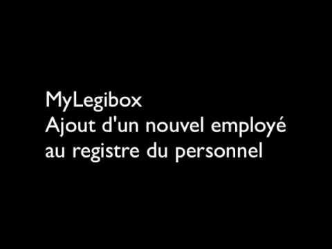 MyLegibox - Etape 1 -  Ajout d'une nouvelle ligne au registre du personnel