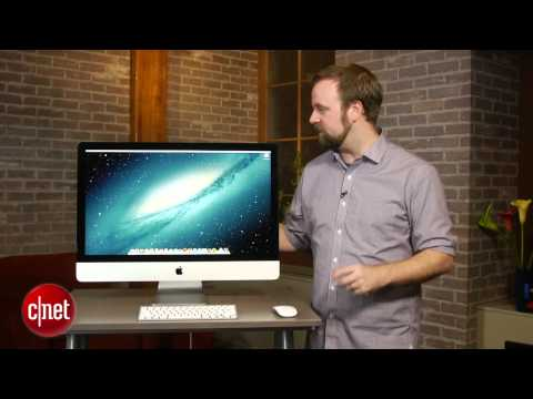imac - http://cnet.co/Vbo0e2 Beneath its striking all-new, slim-edged design, the 2012 27-inch iMac is a performance powerhouse.