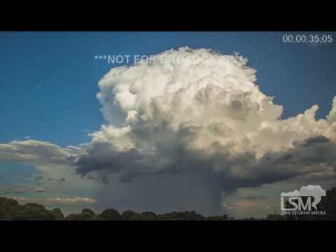 تصوير رائع لتكون العواصف الرعدية في  ولاية كارولينا الشمالية