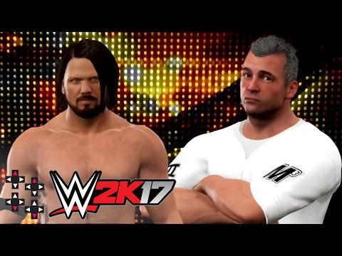 WrestleMania 33: AJ Styles vs. Shane McMahon — WWE 2K17 Match Sims