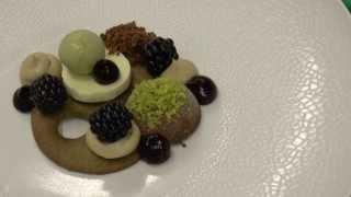 Koen Verjans prepares a chocolate dessert at Michelin star Innesto