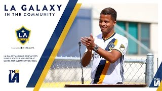The LA Galaxy and forward Giovani dos Santos unveiled a mini-soccer pitch at Andrew Jackson Elementary School in Santa Ana. Want to see more from the LA ...