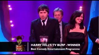 Congratulations to Harry Hill's TV Burp for winning Best Comedy Entertainment Programme!The concept for the Awards was originally devised and produced by British TV legend, Michael Hurll to promote homegrown comedy talent. The original show was presented by Michael Parkinson and winners included VICTORIA WOOD as Best Live Stand-up, PAULINE QUIRKE as Best TV Comedy Newcomer, and DROP THE DEAD DONKEY as the Best New TV Comedy. Other winners included RUSS ABBOTT, CLIVE JAMES & ROWAN ATKINSON.http://www.britishcomedyawards.com/https://twitter.com/comedyawardshttp://www.facebook.com/pages/British-Comedy-Awards/160295097348405