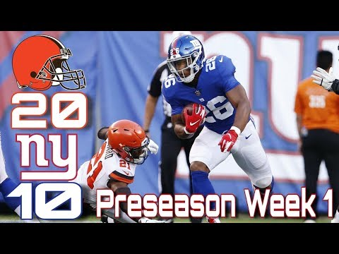 New York Giants LOSE to Cleveland Browns 20-10 | Baker Mayfield Shines in NFL Debut!