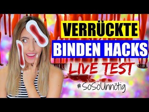 VERRÜCKTE BINDEN HACKS & TIPPS |live test |#SoSoUnnötig
