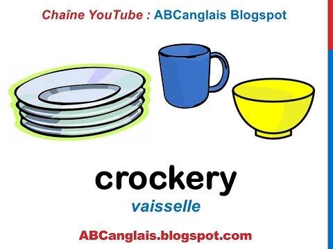 Cours d'anglais 44 - Les ustensiles de cuisine en anglais Les couverts La vaisselle Vocabulaire