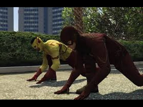 Flash And Kid Flash Vs Zoom And Reverse Flash [GTA V Mod]
