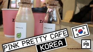 This Pink Korean Cafe has a Vending Machine for a Door!? - Zapangi in Seoul