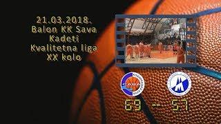 kk sava kk mladost 69 57 (kadeti, 21 03 2018 ) košarkaški klub sava