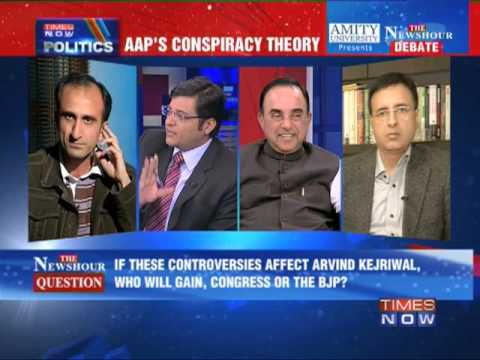 newshour - In a debate moderated by TIMES NOW's Editor-in-Chief Arnab Goswami, panelists -- Dr Subramanian Swamy, Leader, BJP; Randeep Singh Surjewala, Leader, Congress...