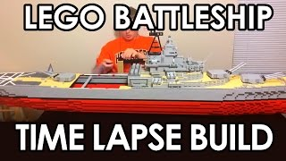 """Time lapse of me building a seven foot long model of the battleship Missouri out of LEGOsSINKING VIDEO IN LATE MAY, STILL EARLY SPRING (づ。◕‿‿◕。)づ (づ。◕‿‿◕。)づ (づ。◕‿‿◕。)づ (づ。◕‿‿◕。)づ (づ。◕‿‿◕。)づ (づ。◕‿‿◕。)づThis model is 7'10"""" long and weighs over 30 pounds.  Over 10,000 LEGO bricks were used to make this model.  I spent like over 1000$ to be able to build this model, as I had very few Gray pieces to be able to build something at this size.  Plus, alas! I finally stopped using the old Gray LEGO Bricks.  But all these bricks will allow me to make many more warships in the future.  This model is built for the sole purpose of being sunk in a swimming pool so I don't spend too long on trying to make it super detailed.  That is also the reason why the inside of the hull is completely hollow.  This is so I can easily access the inside for my top secret sinking LEGO ship technique.3D LDD Model at: www.hagermanships.comThe USS Missouri is probably one of the most famous of the American Battlewagons, this ship served from WWII until after the Gulf War.  This is the ship the Japanese surrendered on during WWII.  The ship is armed with a main battery of nine, sixteen inch guns arranged in three triple turrets.  The ship also had a secondary armament of twenty, five inch guns.  But at the end of its life it had only twelve, five inch guns arranged in six twin turrets.  This is a model of the ship in its final state.  I wasn't going to try and make it a WWII version with all those anti aircraft guns scattered across it."""