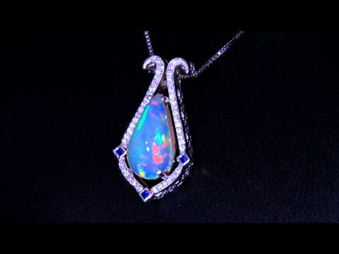 Michael design with a 647 carat welo opal pendant christopher michael design with a 647 carat welo opal pendant mozeypictures Gallery