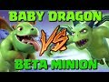 Baby Dragon Vs Beta Minion - Clash of Clans Battle! New CoC Troop Challenge - Builder Base Attacks