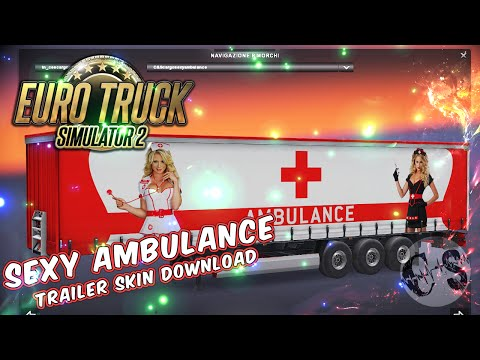 Volvo FH 2012 2 Sexy Ambulance Skins + Trailer (Standalone)