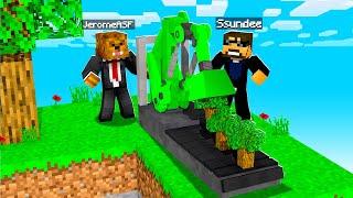 Making An Automatic Tree Farm In Minecraft W/ Ssundee