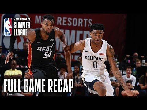 Video: HEAT vs PELICANS   Alexander-Walker Erupts For 34 As Pels Win In OT   MGM Resorts NBA Summer League