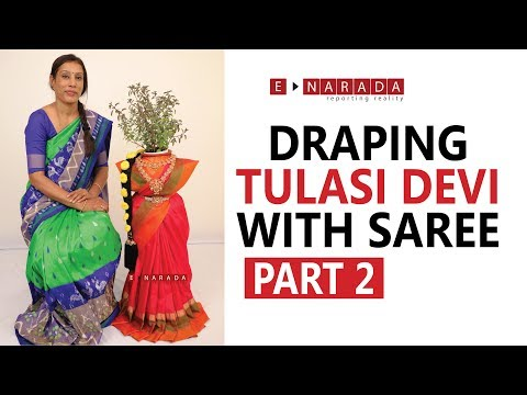 Saree Draping For Tulasi Devi | Tulsi Decoration PART 2 | Holy Basil Plant | ತುಳಸಿ ಅಲಂಕಾರ