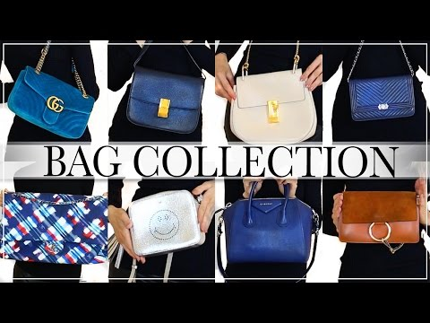 MY DESIGNER BAG COLLECTION | CHANEL, GUCCI, CHLOE, GIVENCHY, C… видео