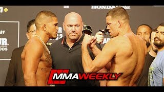 UFC 241 Ceremonial Weigh-Ins: Nate Diaz vs Anthony Pettis by MMA Weekly