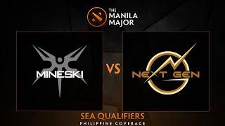 Mineski.Sports5 vs Next Generation - Game 2 - The Manila Major SEA Qualifiers - Philippine Coverage